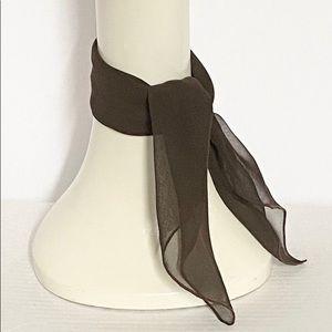 Brown chiffon scarf